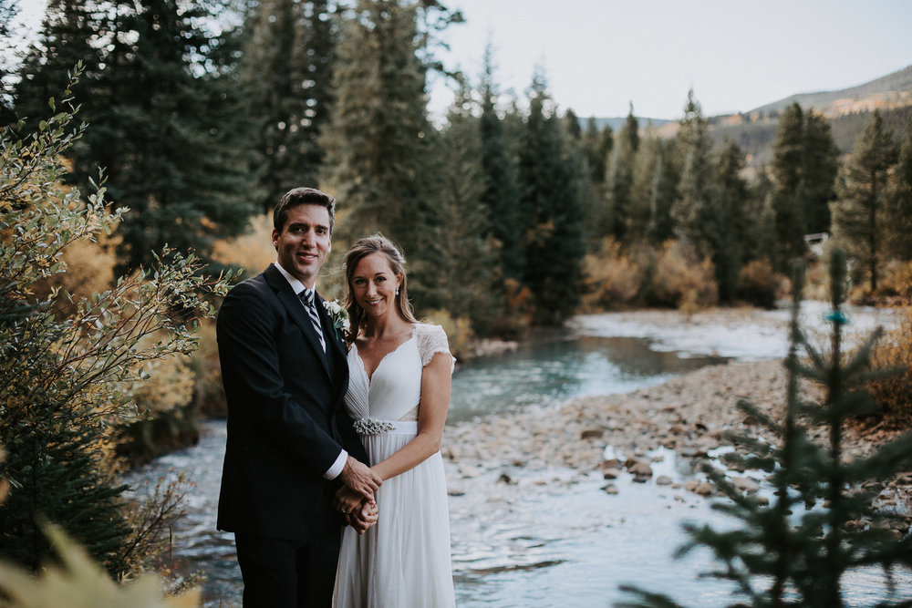 Quaking Aspen Amphitheater wedding fall colors Keystone Colorado pine trees