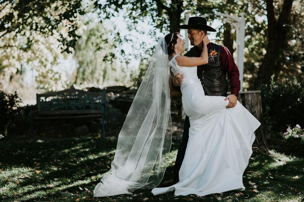 Vineyard winery wedding bride groom Palisade Colorado