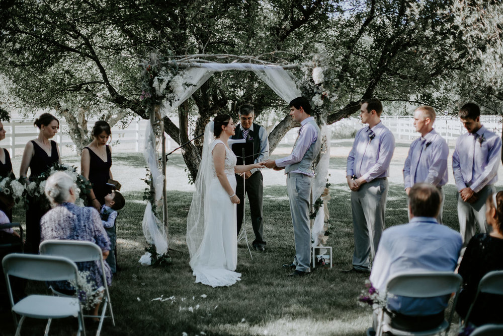 Wedding ceremony at Red Barn Guest Ranch