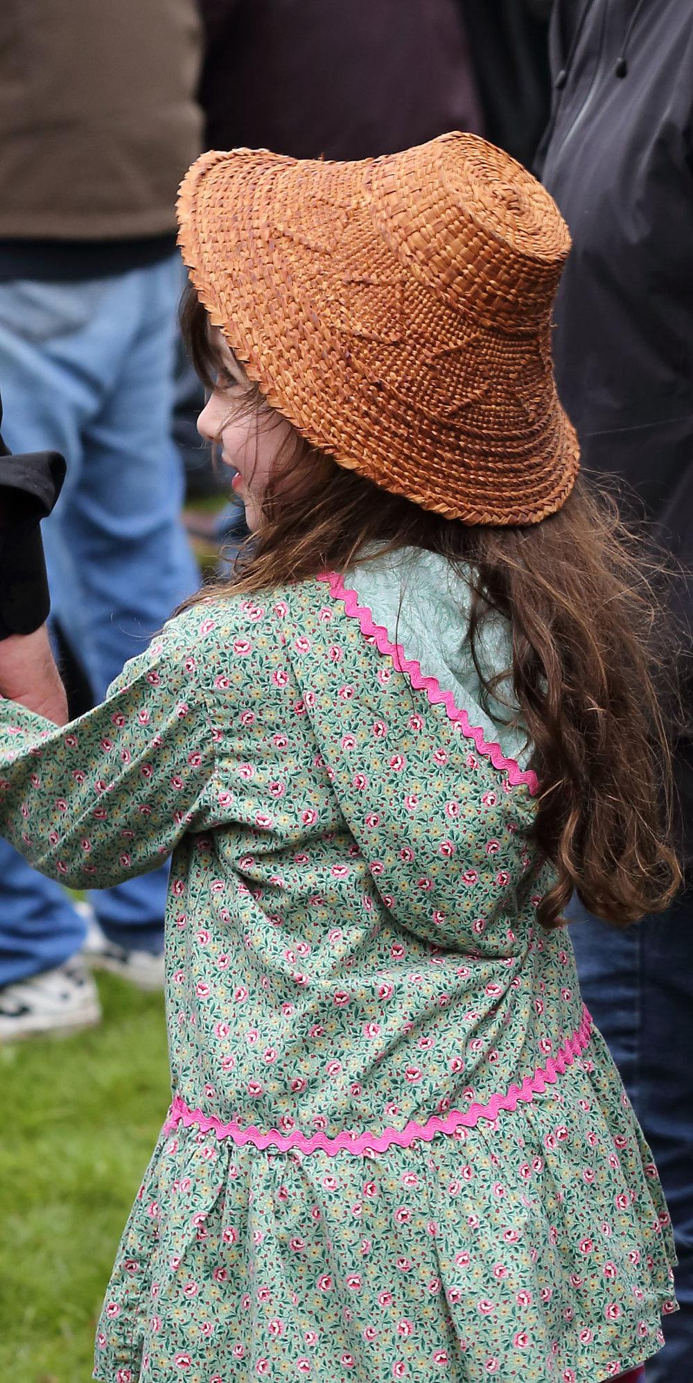 Alaska Native Cedar Bark Hat Kuspuk Wrangell