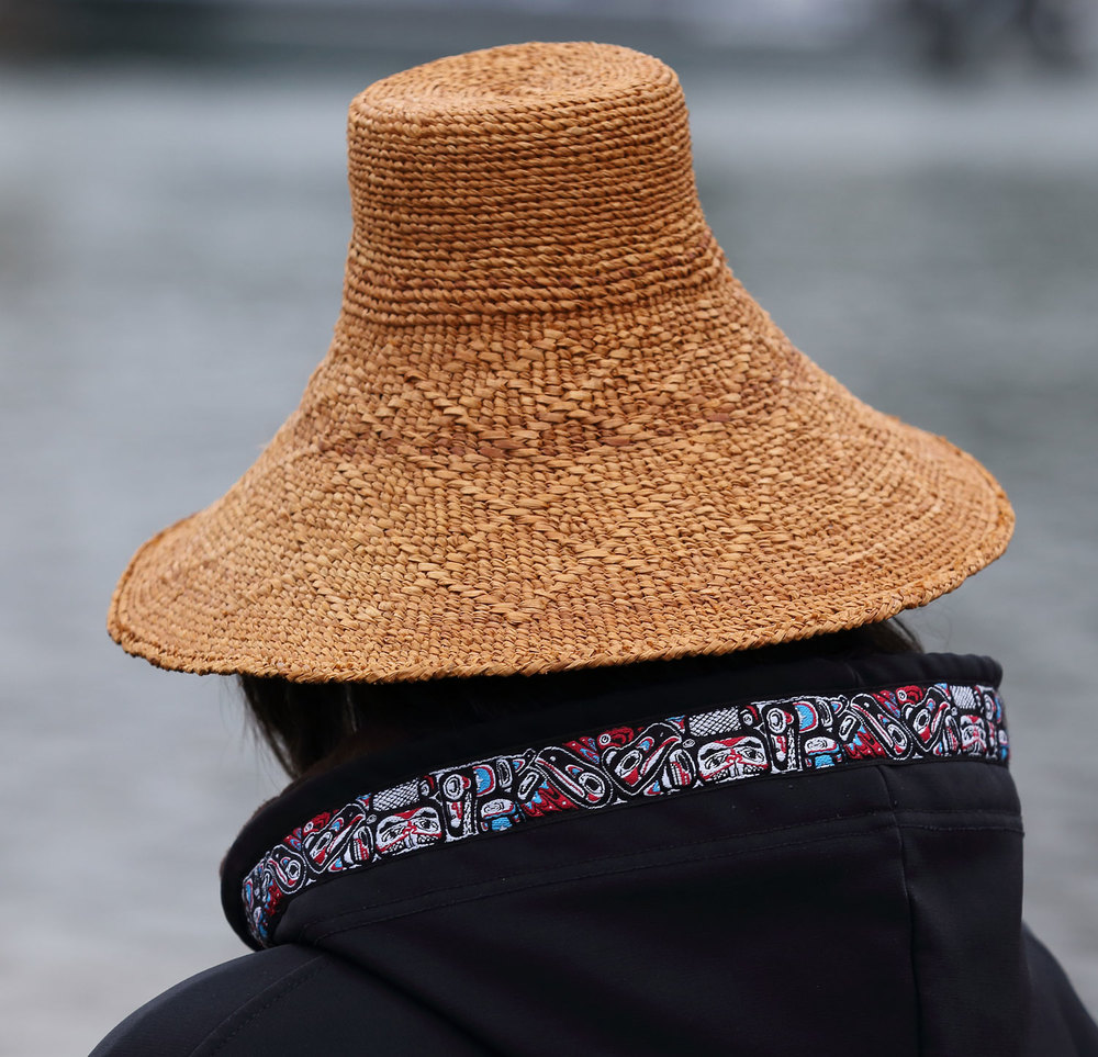 Alaska Native Tlingit cedar bark hat Wrangell