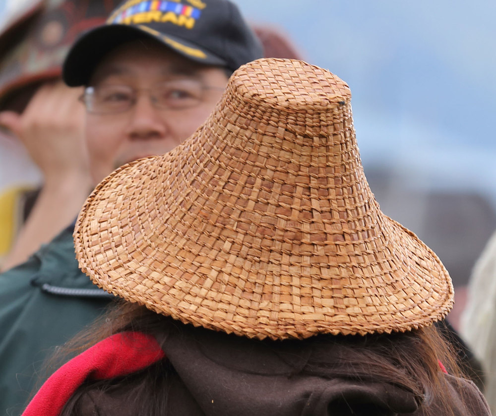 Alaska Native cedar bark hat
