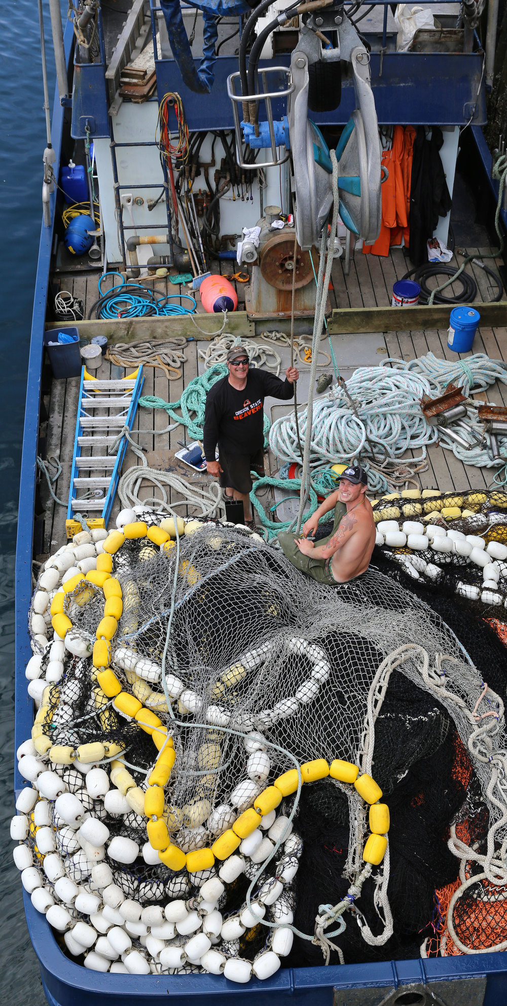 Big smiles from the deck of the F/V VIKING SPIRIT in Petersburg, Alaska.