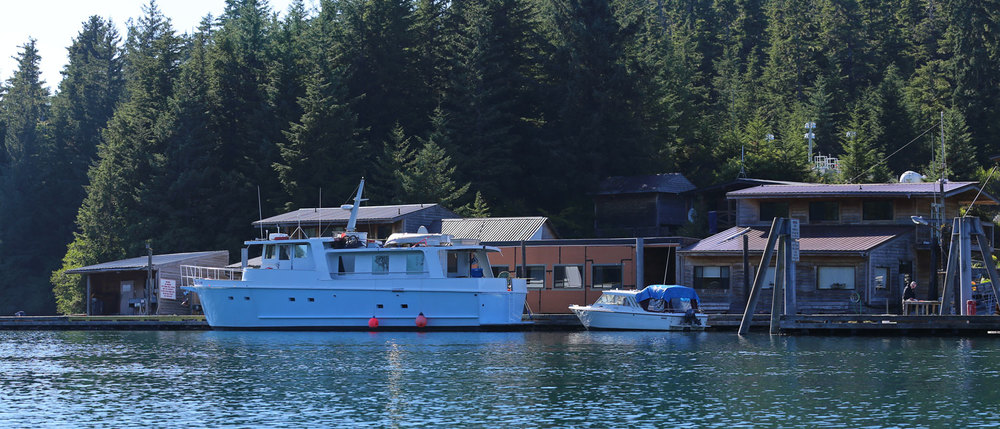 The State of Alaska dock and the Outpost at Point Baker