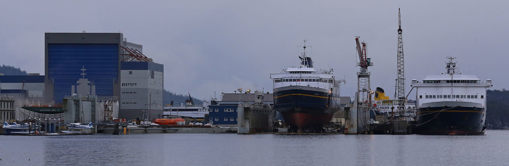Alaska Marine Highways ferries Matanuska and Kennecott at Alaska Ship and Drydock in Ketchikan.