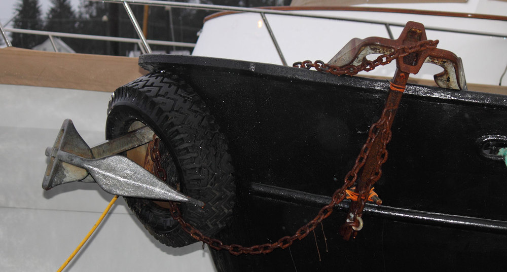 Petersburg Alaska fishing boat Forfjord anchors