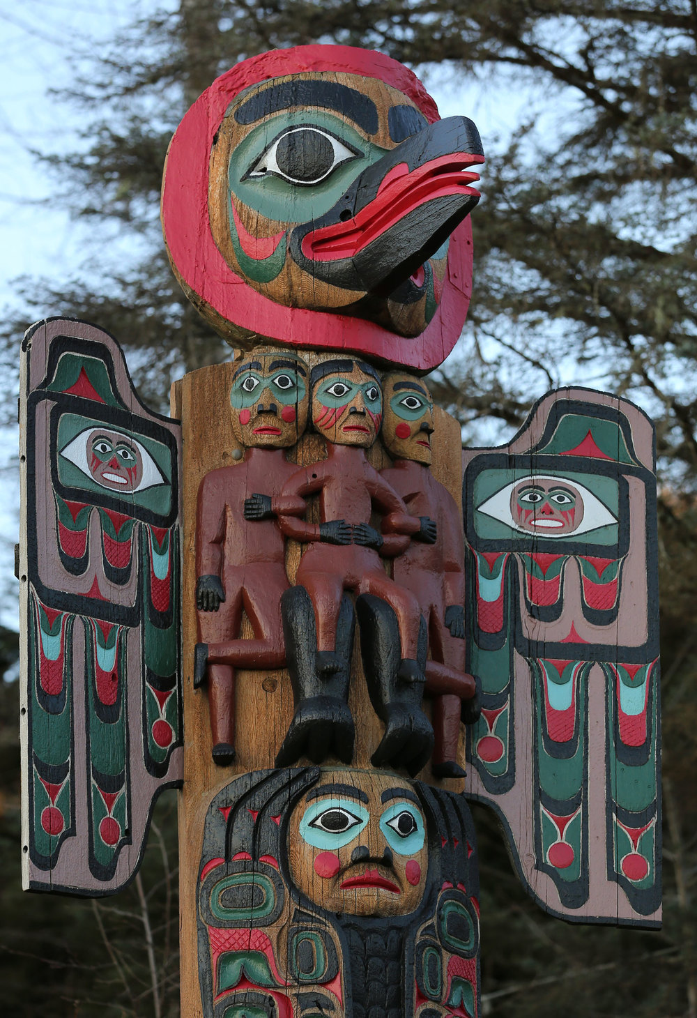 Totem pole Saxman Alaska Native Village
