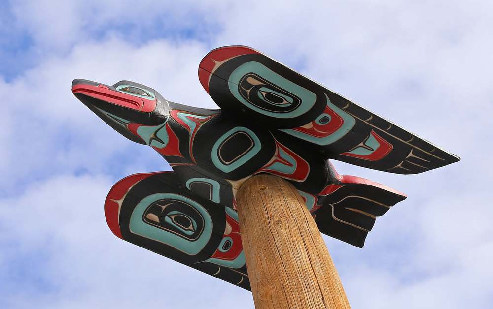 Totem pole Saxman Native Village Alaska