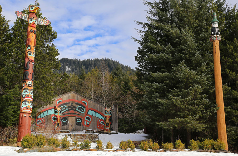 Totem Poles at Saxman Native Village