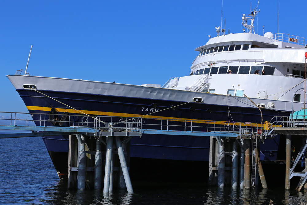 Alaska Marine Highways ferry M/V Taku in Wrangell