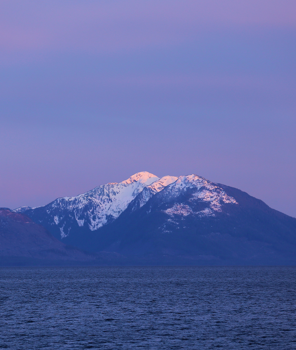 Alaska mountains violet purple pretty beautiful