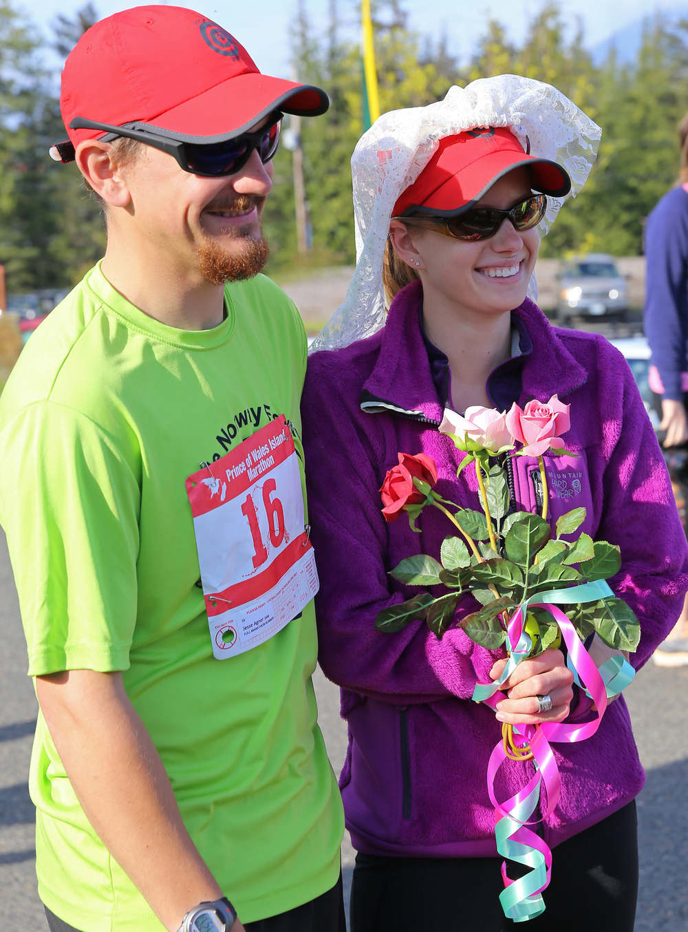 Jesse Agner and JoAnn Day will be married two weeks after running in this marathon.