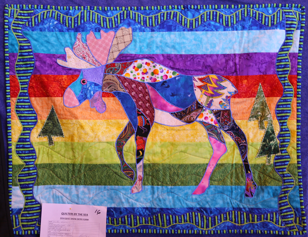 Mortley P. Moose quilt by Nonita Dixon of Klawock, Alaska