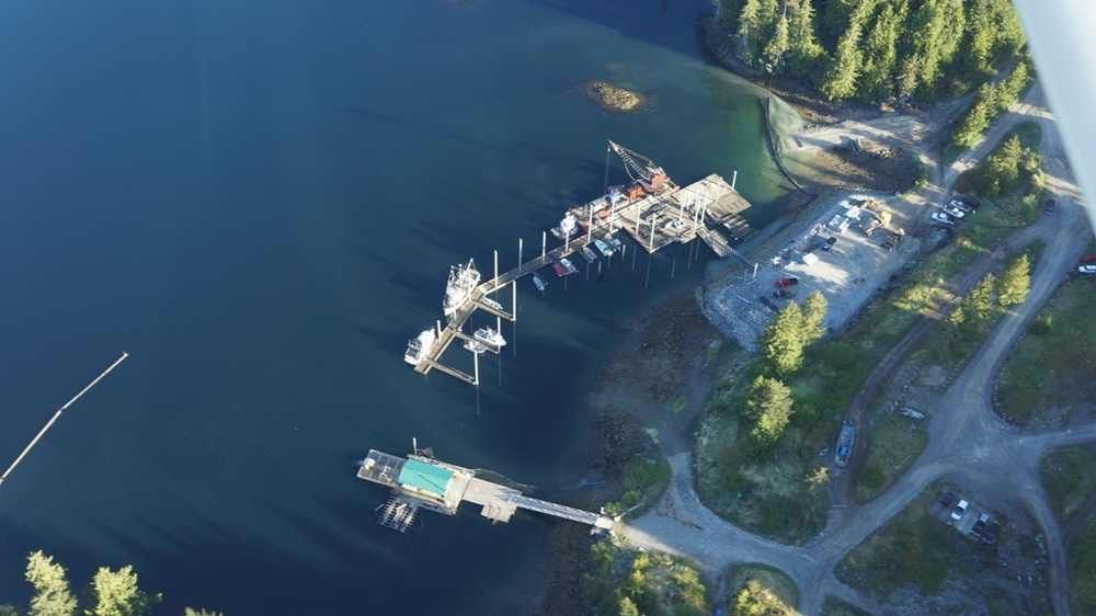 The new dock at Naukati Bay. Photo by, and courtesy of,  Island Air Express.