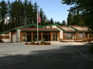 Alaska Raptor Rehabilitation Center facility in Sitka. Photo courtesy of the Alaska Raptor Center.