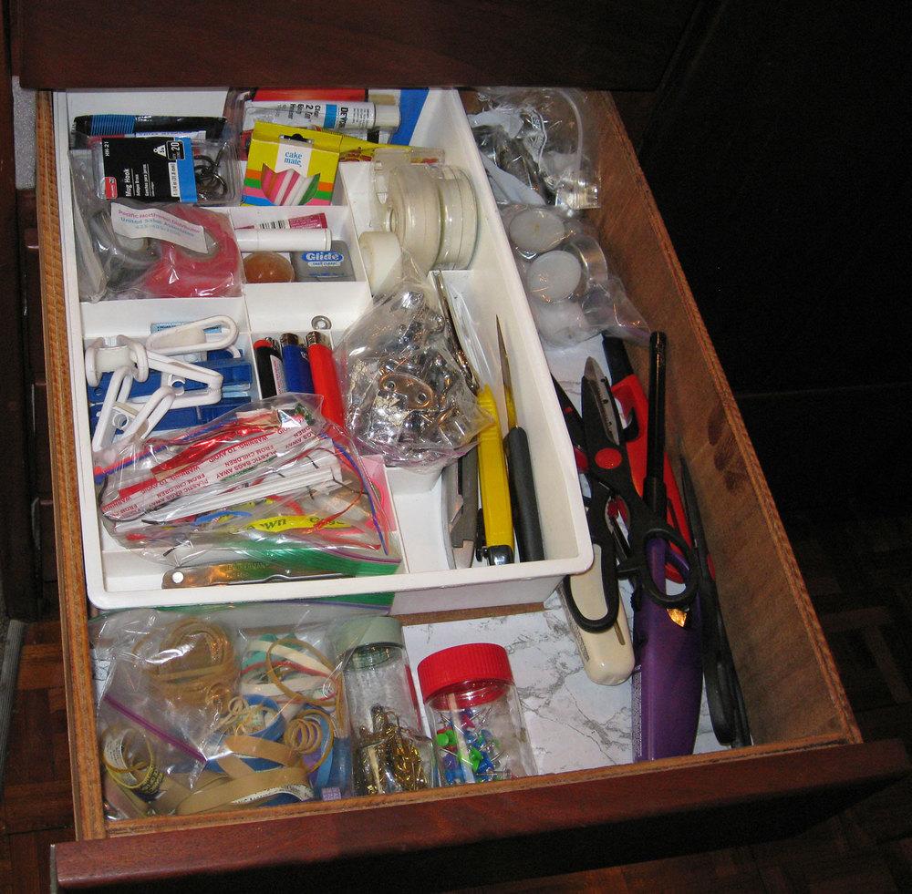 Junk drawer Fibber McGee drawer