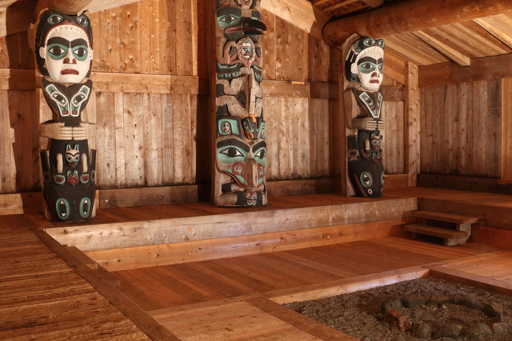 Inside the clan house are the three original totems.