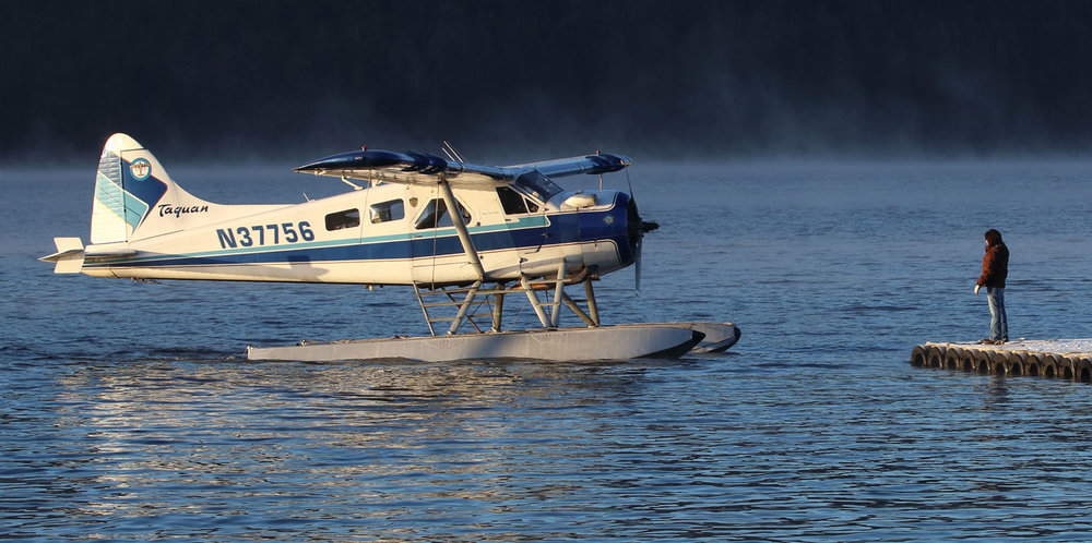 de Havilland Beaver floatplane at airplane float Thorne Bay Southeast Alaska