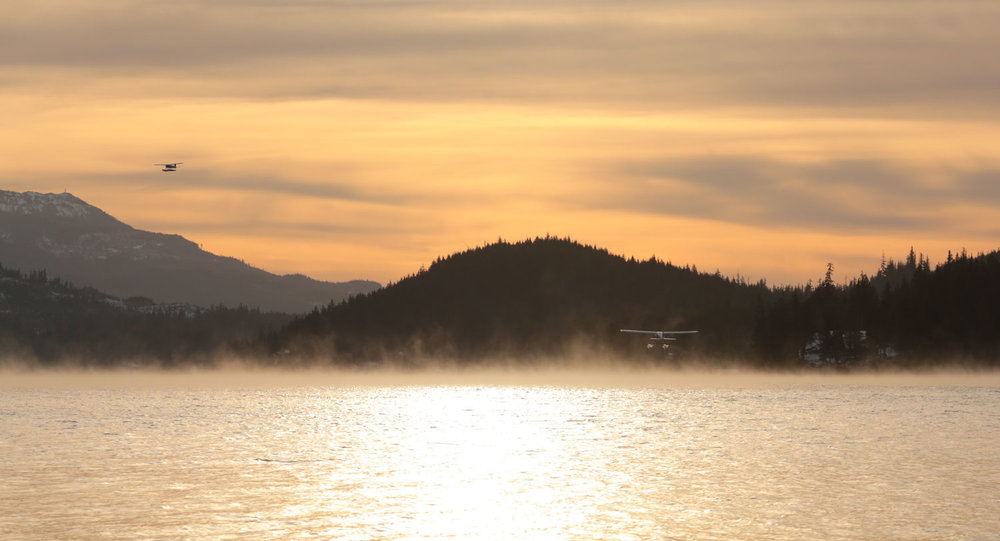 Floatplanes departing Thorne Bay Alaska