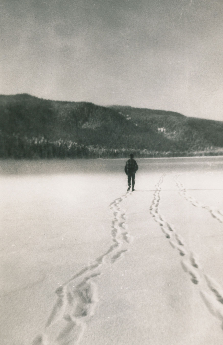 Walking on ice Hood Bay Admiralty Island Southeast Alaska 1950