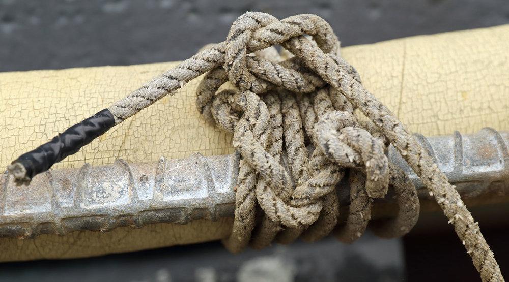 Boom boat line knots