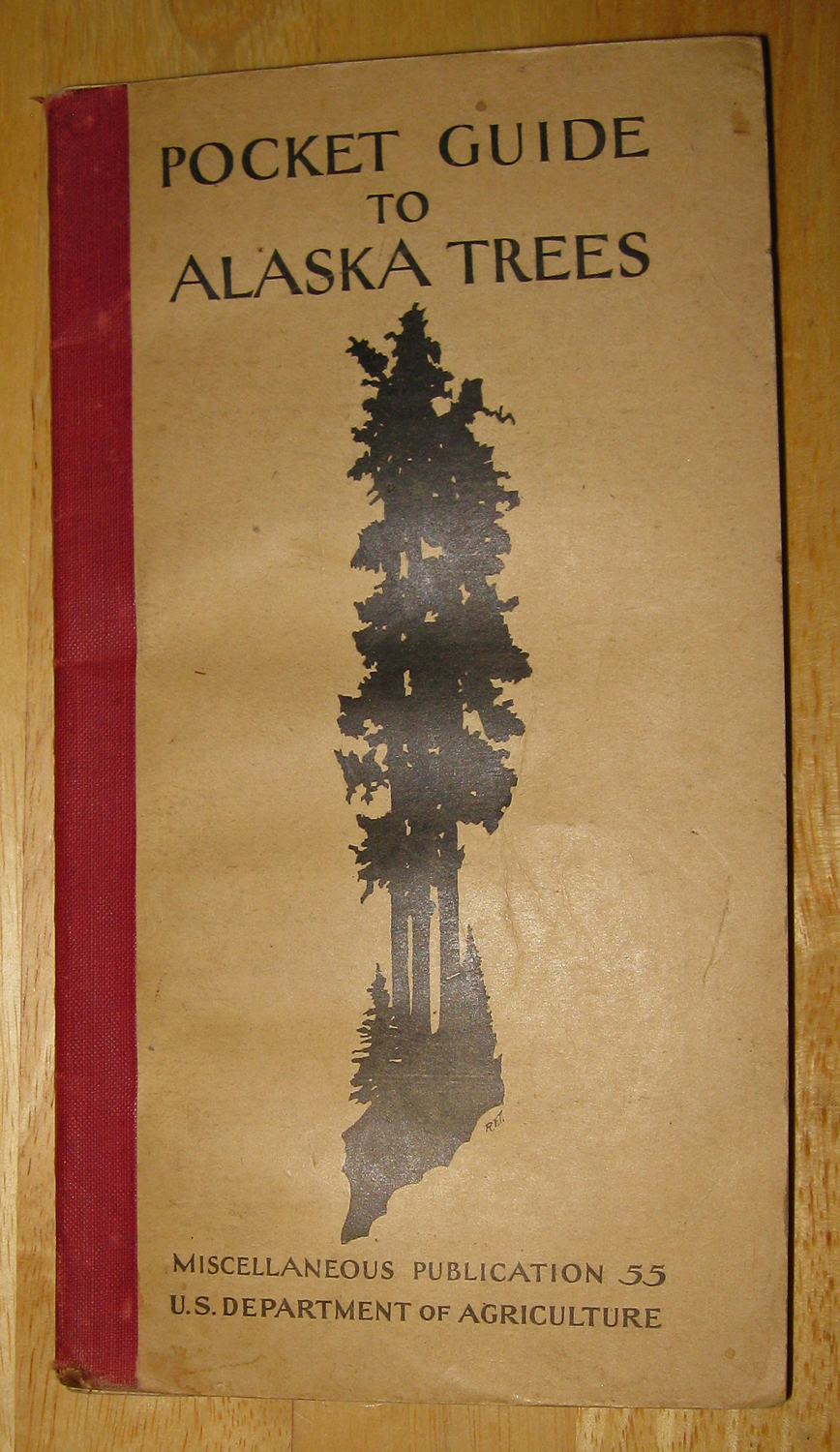 1929 copy of Pocket Guide to Alaska Trees USDA Forest Service
