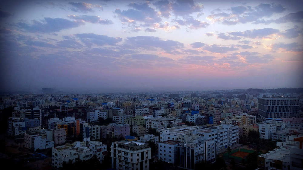 Sunrise from Hotel Room - Hyderabad, India