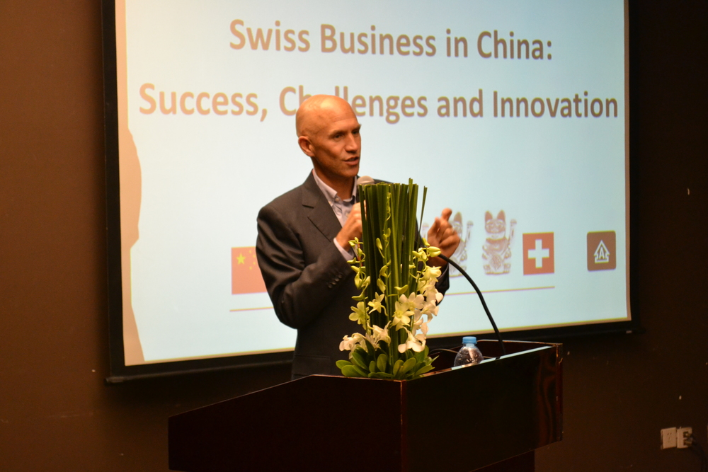 Mr. Pascal Marmier, Executive Director of swissnex China, was giving an introduction on the topic.