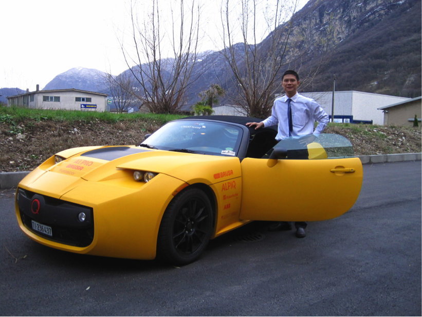 Fig: Prof. Tan, SYSU, visited Protoscar in Switzerland, and drove Lompo2