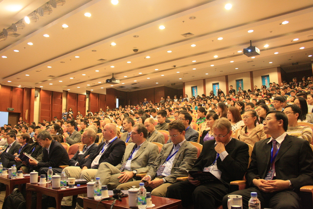 The symposia is fully attended.