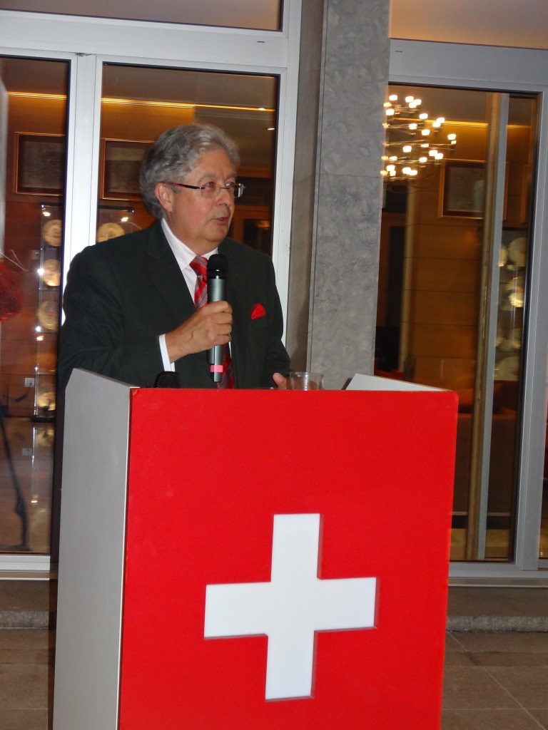 H.E. Jean-Jacques de Dardel, Ambassador of Switzerland to China addressed the audience