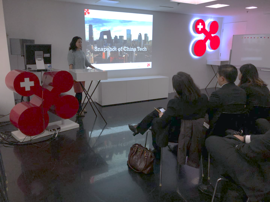 Lijun Zhang, swissnex China's Project Leader for Innovation and Entrepreneurship, gave a presentation on innovation & phenomenal trends in China.