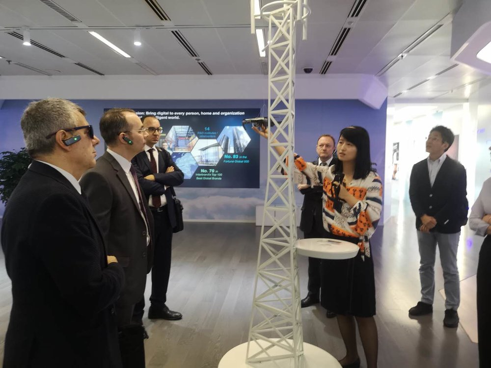 Huawei demoing enterprise drone technology operating on 5g network.