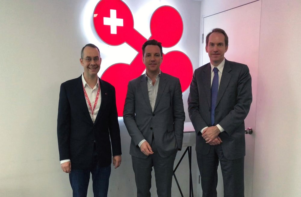 Our CEO Dr. Felix Moesner with Dr. Andreas Gothenberg, Executive Director and Dr. Erik Forsberg, China Representative of STINT