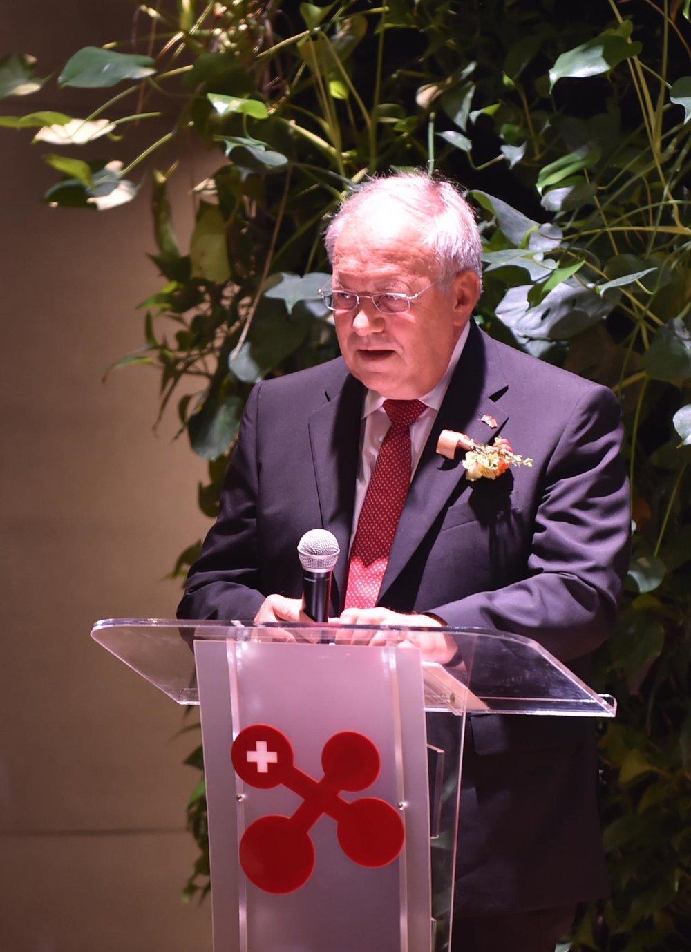 Swiss Federal Councillor Johann Schneider-Ammann gave the opening speech