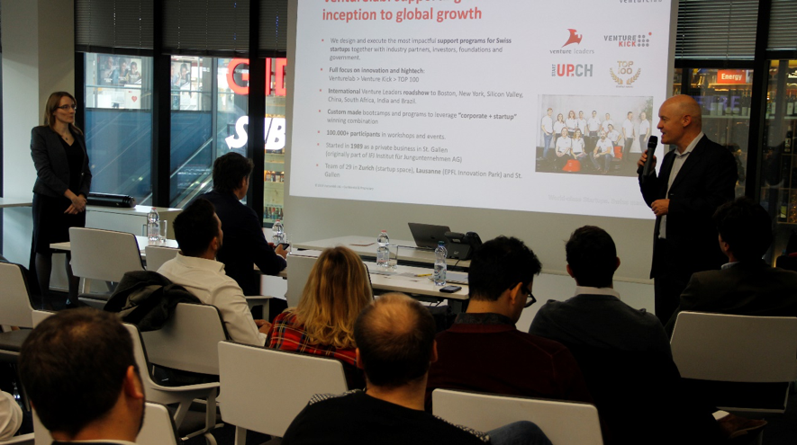 Jordi Montserrat, Co-founder and managing partner of Venturelab, together with Joanna Sapulak, representative of WTOIP hosted the Swiss Chapter