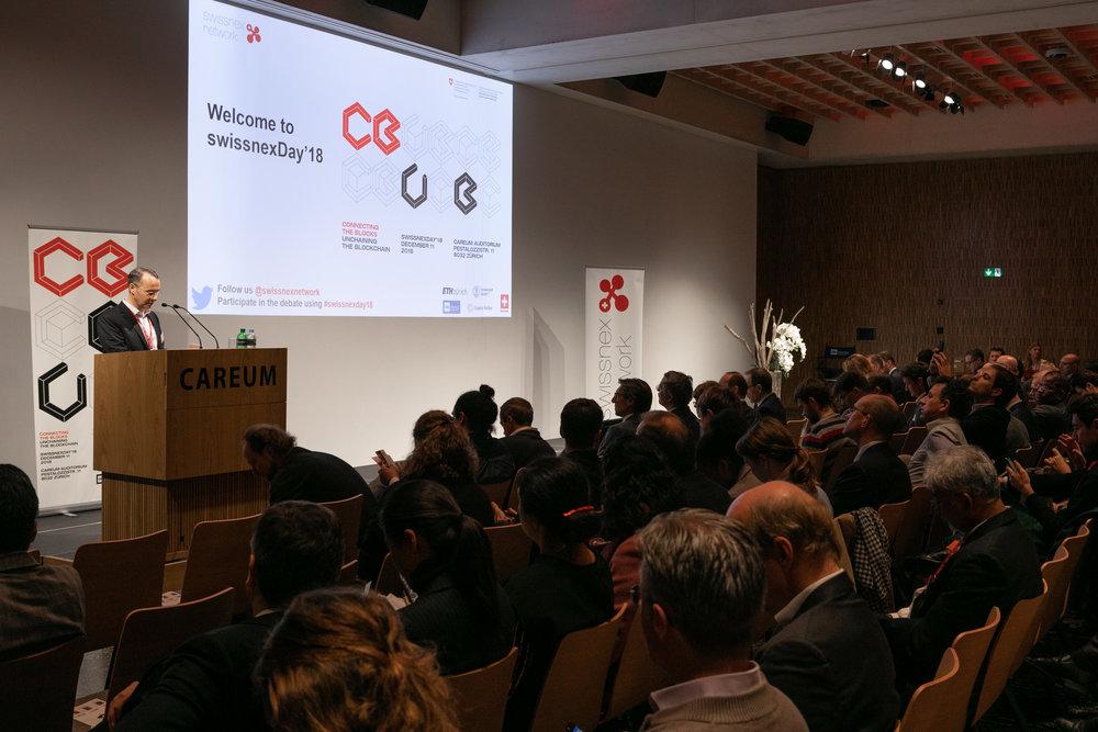 Photo:  Dr. Felix Moesner , CEO swissnex China, gave the speech