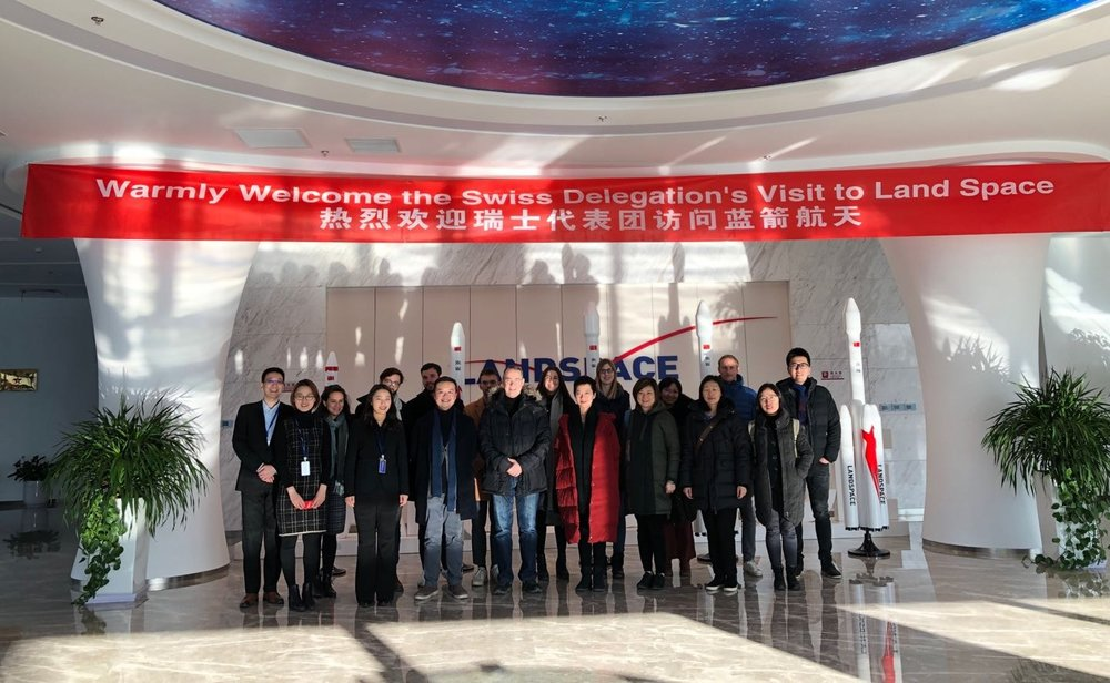 The teams from Shanghai and Beijing were warmly received by Landspace.