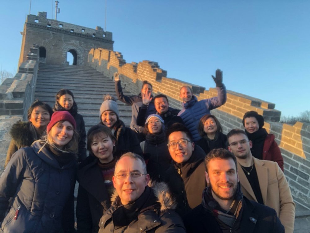 Shanghai & Beijing teams at the Great Wall.