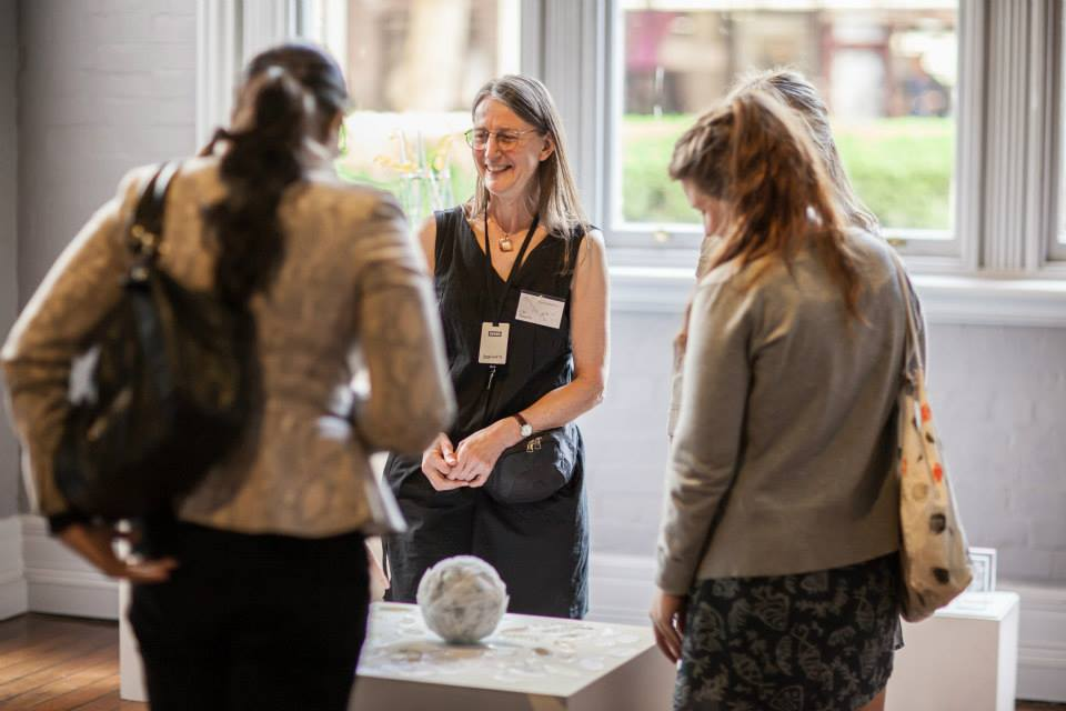 Photo:  Jane Ion (@yion) Lisa Roberts speaking with guests at the Sidney Ultimo Science Festival in September 2013