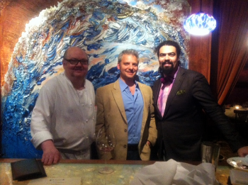 Chef Mark Grosz, myself and Philippe Andre at Oceanique