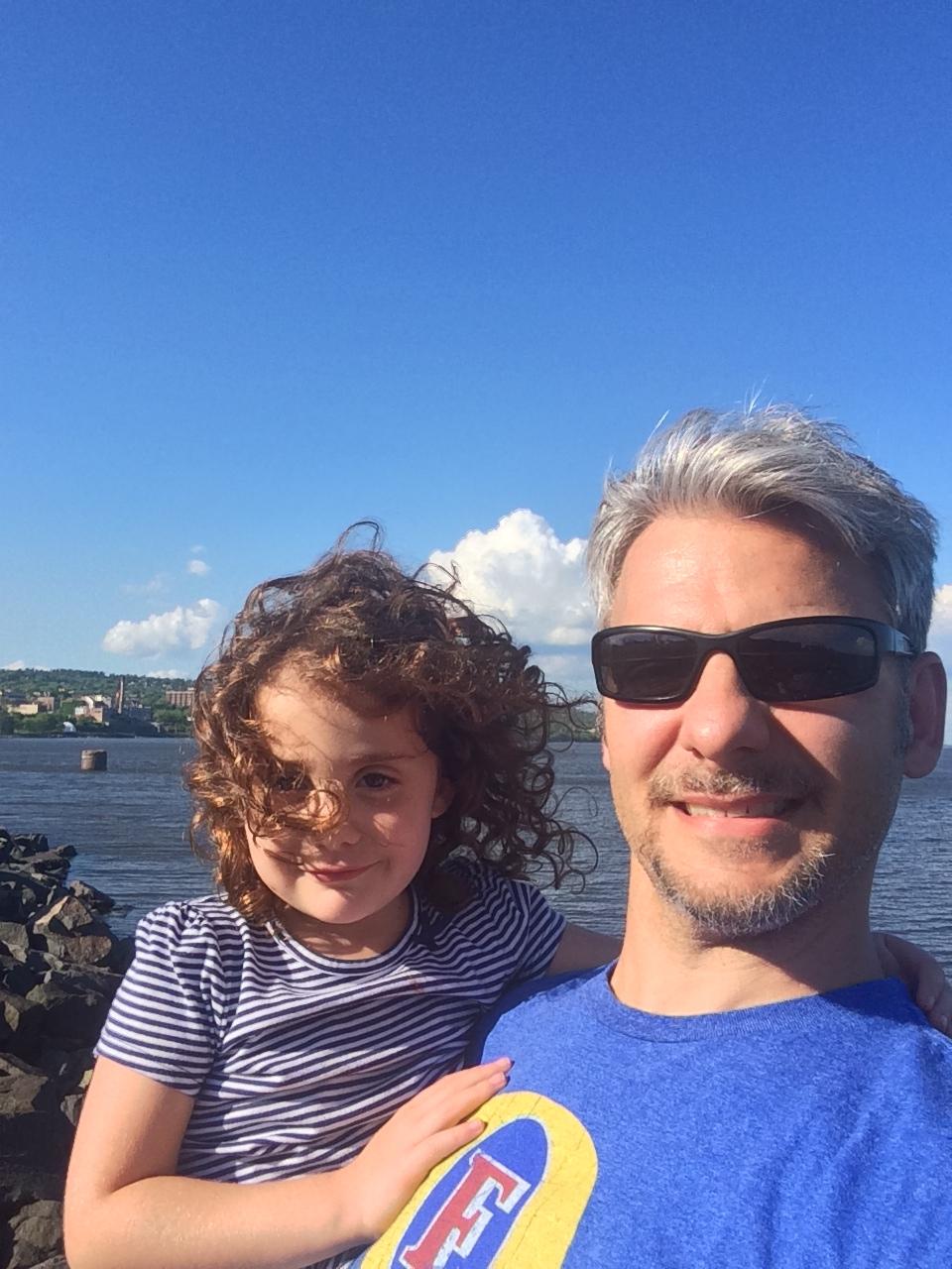 Lily & I on Lake Superior