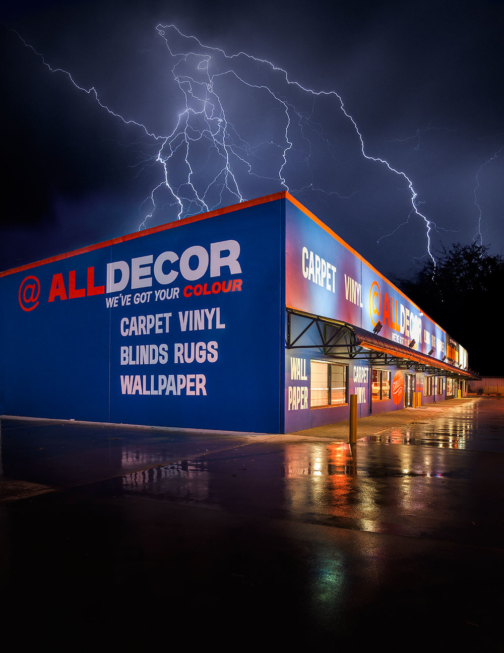 All Decor Carpet store in Western Australia photo taken during recent lightning storms