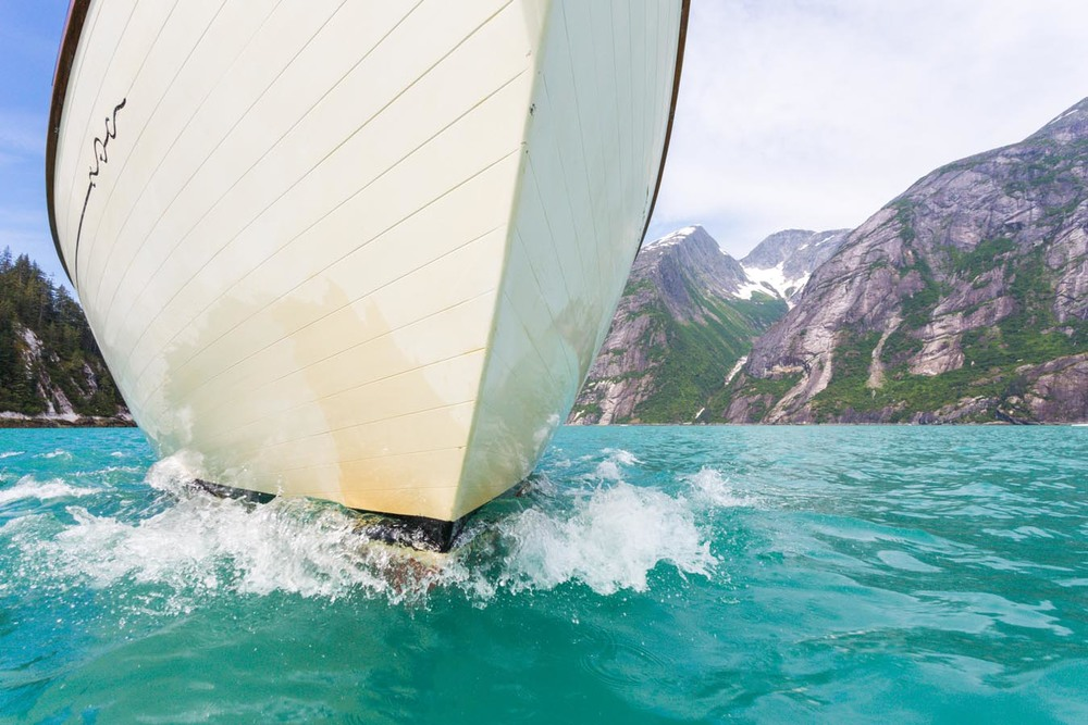 Tracy Arms, Alaska - Sailing though some of the most beautiful glacial valleys in such fine warm weather could not have been imagined or tough of as being achievable until it actually happened.