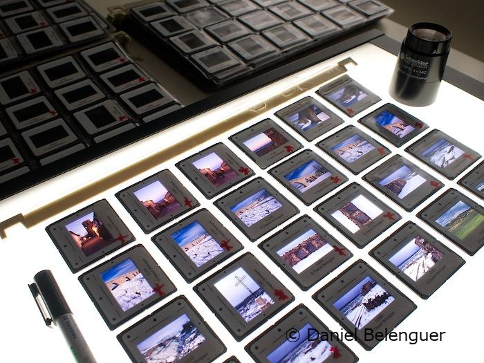 Mesa de luz con diapositivas. © Daniel Belenguer