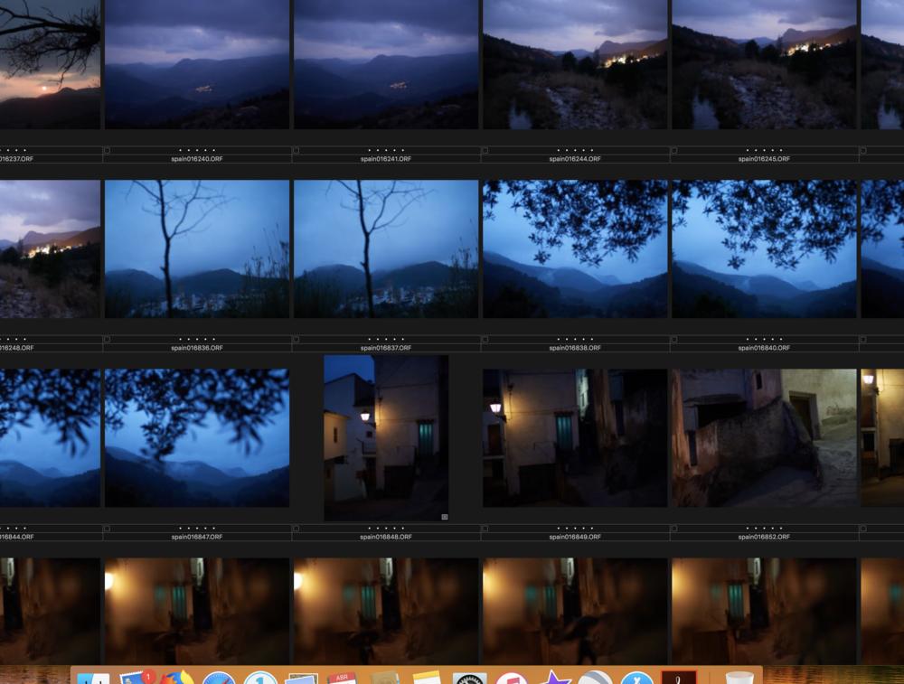 Captura de pantalla de mi ordenador con algunas de las últimas fotografías que he tomado en el Alto Mijares