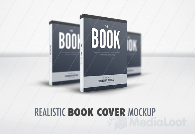 Multiple Book Cover Mockup template from Media Loot.