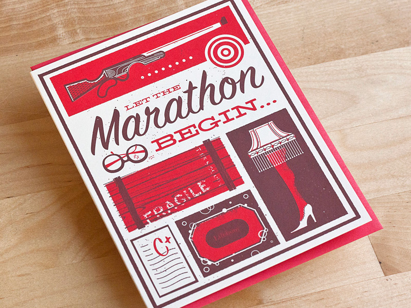 Let the marathon begin Christmas cards by 55Hi's