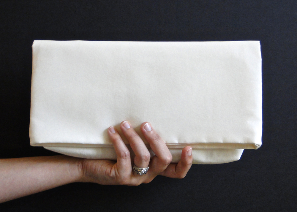 White-on-White Foldover Clutch Tutorial