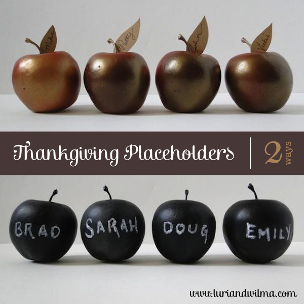 DIY Apple Thanksgiving Placeholder Tutorial